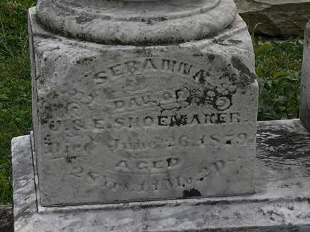 SHOEMAKER, SEBA??A - Morrow County, Ohio   SEBA??A SHOEMAKER - Ohio Gravestone Photos