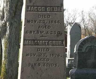 SHUR, JACOB - Morrow County, Ohio | JACOB SHUR - Ohio Gravestone Photos