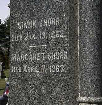 SHURR, MARGARET - Morrow County, Ohio   MARGARET SHURR - Ohio Gravestone Photos