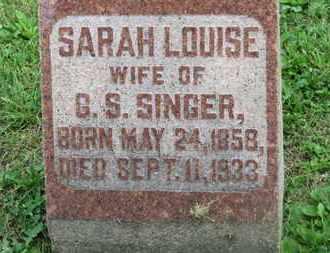 SINGER, SARAH LOUISE - Morrow County, Ohio | SARAH LOUISE SINGER - Ohio Gravestone Photos