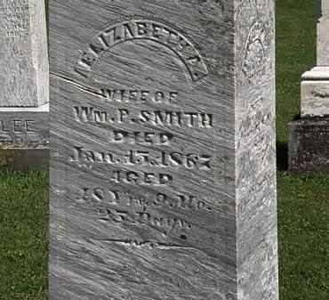 SMITH, ELIZABETH - Morrow County, Ohio | ELIZABETH SMITH - Ohio Gravestone Photos