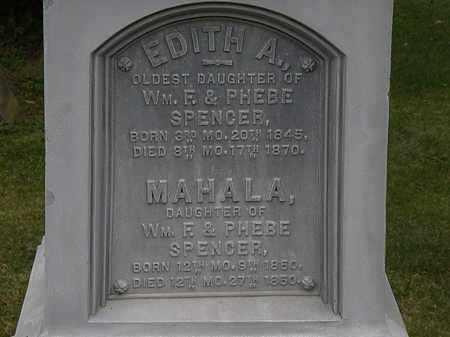 SPENCER, EDITH A. - Morrow County, Ohio | EDITH A. SPENCER - Ohio Gravestone Photos