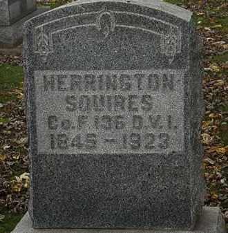 SQUIRES, HERRINGTON - Morrow County, Ohio | HERRINGTON SQUIRES - Ohio Gravestone Photos