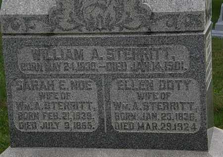 NOE STERRITT, SARAH E. - Morrow County, Ohio | SARAH E. NOE STERRITT - Ohio Gravestone Photos