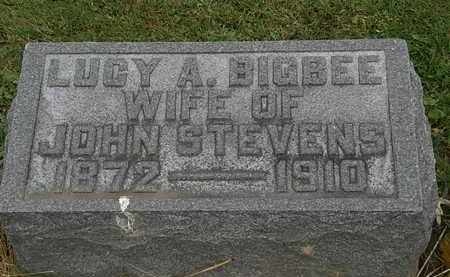 BIGBEE. STEVENS, LUCY A. - Morrow County, Ohio | LUCY A. BIGBEE. STEVENS - Ohio Gravestone Photos
