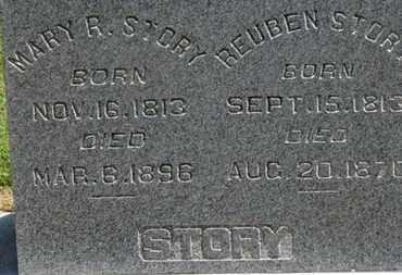 STORY, MARY R. - Morrow County, Ohio   MARY R. STORY - Ohio Gravestone Photos