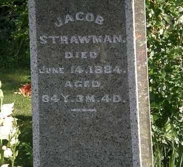 STRAWMAN, JACOB - Morrow County, Ohio   JACOB STRAWMAN - Ohio Gravestone Photos