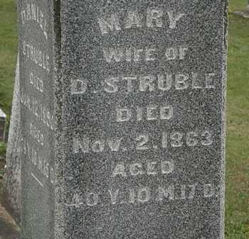 STRUBLE, MARY - Morrow County, Ohio | MARY STRUBLE - Ohio Gravestone Photos