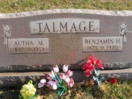TALMAGE, AUTHA M - Morrow County, Ohio | AUTHA M TALMAGE - Ohio Gravestone Photos