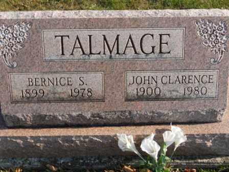 TALMAGE, JOHN CLARENCE - Morrow County, Ohio   JOHN CLARENCE TALMAGE - Ohio Gravestone Photos