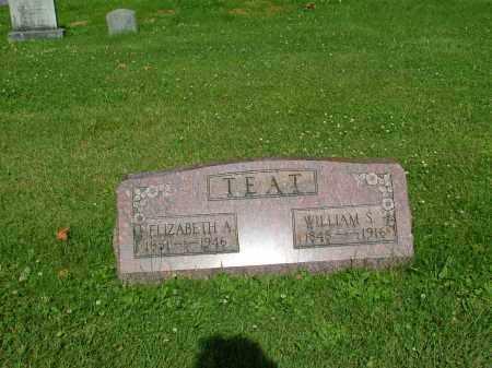 TEAT, ELIZABETH A. - Morrow County, Ohio | ELIZABETH A. TEAT - Ohio Gravestone Photos