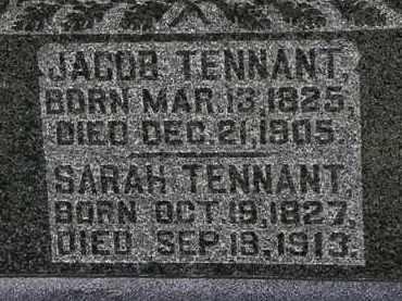 TENNANT, SARAH - Morrow County, Ohio | SARAH TENNANT - Ohio Gravestone Photos