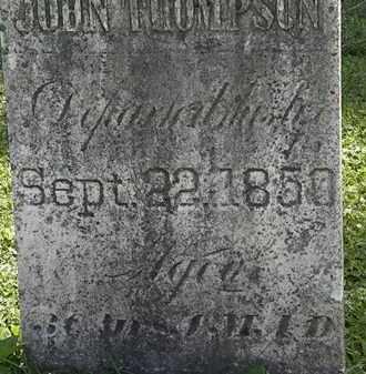 THOMPSON, JOHN - Morrow County, Ohio | JOHN THOMPSON - Ohio Gravestone Photos