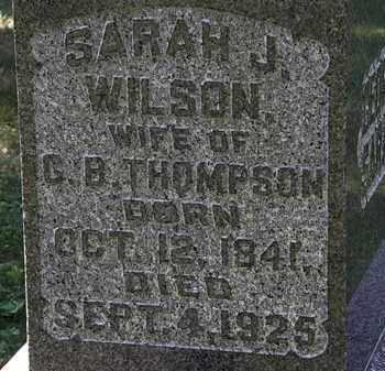 WILSON THOMPSON, SARAH J. - Morrow County, Ohio   SARAH J. WILSON THOMPSON - Ohio Gravestone Photos