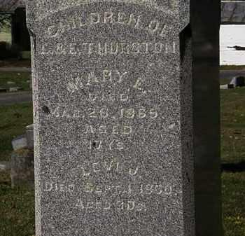 THURSTON, LEVI J. - Morrow County, Ohio | LEVI J. THURSTON - Ohio Gravestone Photos