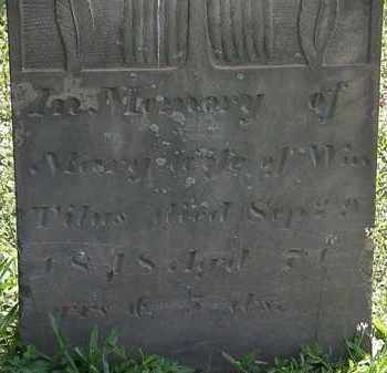 TITUS, MARY - Morrow County, Ohio | MARY TITUS - Ohio Gravestone Photos