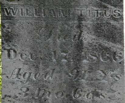 TITUS, WILLIAM - Morrow County, Ohio   WILLIAM TITUS - Ohio Gravestone Photos