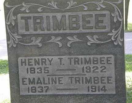 TRIMBEE, EMALINE - Morrow County, Ohio | EMALINE TRIMBEE - Ohio Gravestone Photos