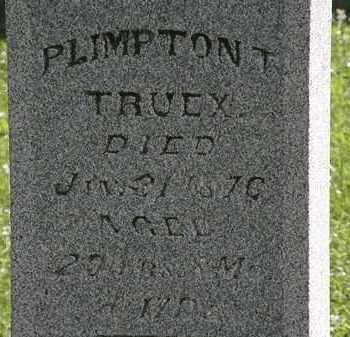 TRUEX, PLIMPTON T. - Morrow County, Ohio   PLIMPTON T. TRUEX - Ohio Gravestone Photos