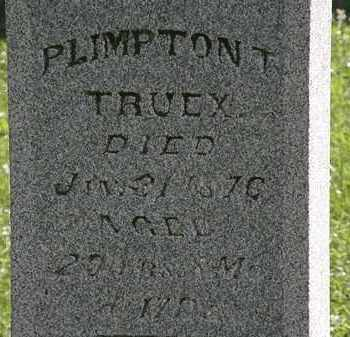 TRUEX, PLIMPTON T. - Morrow County, Ohio | PLIMPTON T. TRUEX - Ohio Gravestone Photos