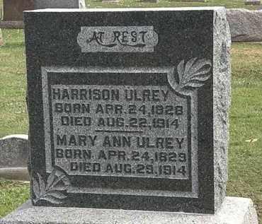 ULREY, MARY ANN - Morrow County, Ohio | MARY ANN ULREY - Ohio Gravestone Photos