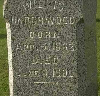 UNDERWOOD, WILLIS - Morrow County, Ohio | WILLIS UNDERWOOD - Ohio Gravestone Photos
