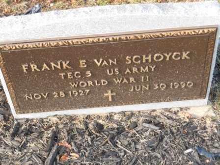 VAN SCHOYCK, FRANK E - Morrow County, Ohio   FRANK E VAN SCHOYCK - Ohio Gravestone Photos