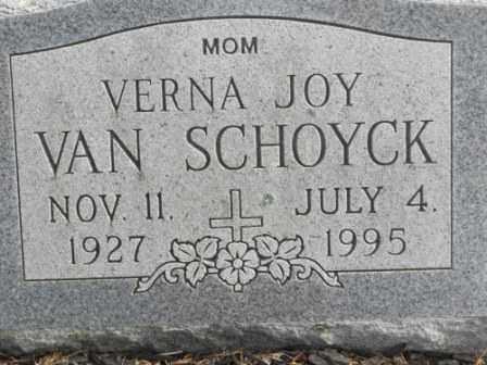 VAN SCHOYCK, VERNA JOY - Morrow County, Ohio   VERNA JOY VAN SCHOYCK - Ohio Gravestone Photos
