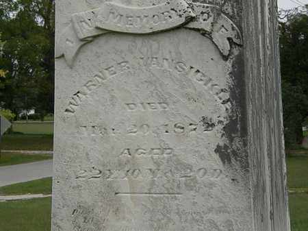 VANSICKLE, WARNER - Morrow County, Ohio | WARNER VANSICKLE - Ohio Gravestone Photos