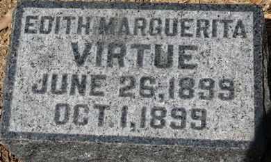 VIRTUE, EDITH MARGUERITA - Morrow County, Ohio   EDITH MARGUERITA VIRTUE - Ohio Gravestone Photos