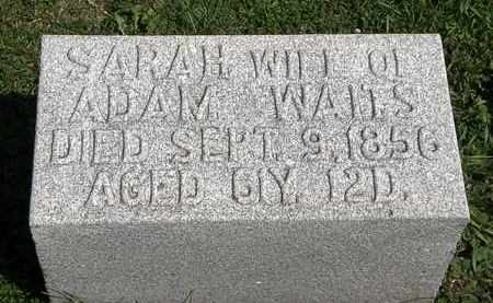 WAITS, ADAM - Morrow County, Ohio | ADAM WAITS - Ohio Gravestone Photos