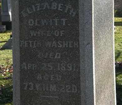WASHER, ELIZABETH - Morrow County, Ohio | ELIZABETH WASHER - Ohio Gravestone Photos