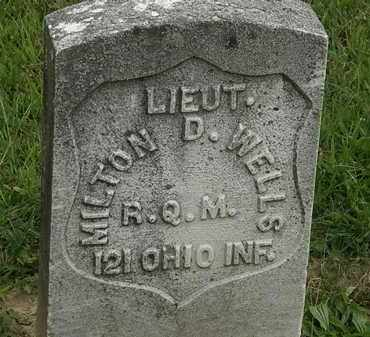 WELLS, MILTON D. - Morrow County, Ohio   MILTON D. WELLS - Ohio Gravestone Photos