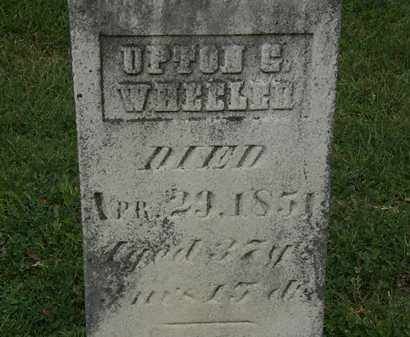 WHEELER, UPTON G. - Morrow County, Ohio | UPTON G. WHEELER - Ohio Gravestone Photos