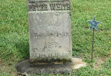 WHITE, PETER - Morrow County, Ohio | PETER WHITE - Ohio Gravestone Photos