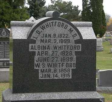 WHITFORD, ALBINA - Morrow County, Ohio | ALBINA WHITFORD - Ohio Gravestone Photos