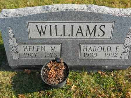 WILLIAMS, HAROLD F - Morrow County, Ohio | HAROLD F WILLIAMS - Ohio Gravestone Photos