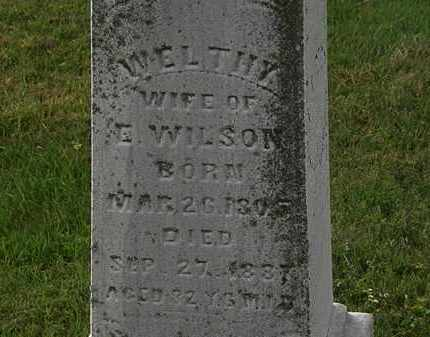 WILSON, WELTHY - Morrow County, Ohio | WELTHY WILSON - Ohio Gravestone Photos