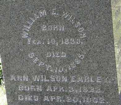 WILSON, WILLIAM E. - Morrow County, Ohio | WILLIAM E. WILSON - Ohio Gravestone Photos
