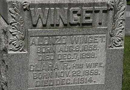 WINGET, ALONZO - Morrow County, Ohio | ALONZO WINGET - Ohio Gravestone Photos
