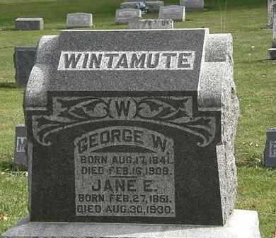WINTAMUTE, JANE E. - Morrow County, Ohio | JANE E. WINTAMUTE - Ohio Gravestone Photos