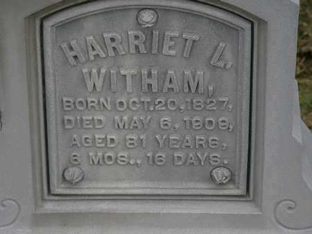 WITHAM, HARRIET L. - Morrow County, Ohio | HARRIET L. WITHAM - Ohio Gravestone Photos