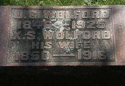 WOLFORD, J.G. - Morrow County, Ohio   J.G. WOLFORD - Ohio Gravestone Photos