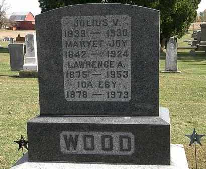 WOOD, JULIUS V. - Morrow County, Ohio | JULIUS V. WOOD - Ohio Gravestone Photos