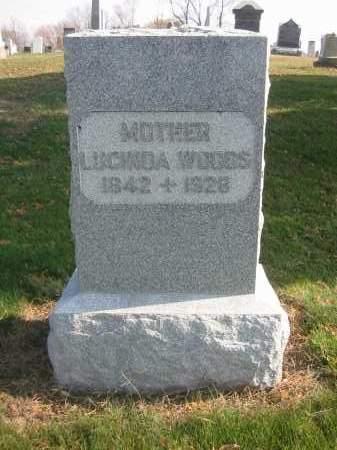 WOODS, LUCINDA - Morrow County, Ohio | LUCINDA WOODS - Ohio Gravestone Photos