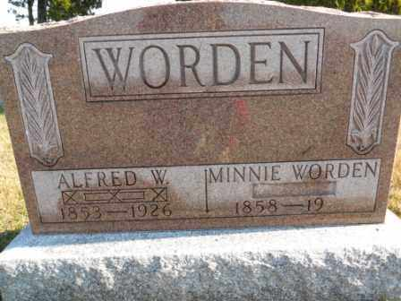 WORDEN, MINNIE WORDEN - Morrow County, Ohio | MINNIE WORDEN WORDEN - Ohio Gravestone Photos