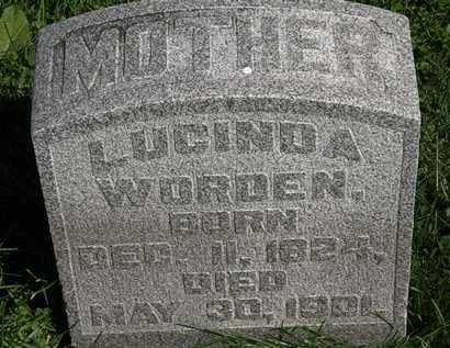 WORDEN, LUCINDA - Morrow County, Ohio   LUCINDA WORDEN - Ohio Gravestone Photos