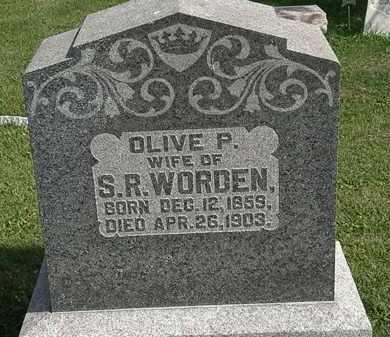 WORDEN, OLIVE P. - Morrow County, Ohio | OLIVE P. WORDEN - Ohio Gravestone Photos