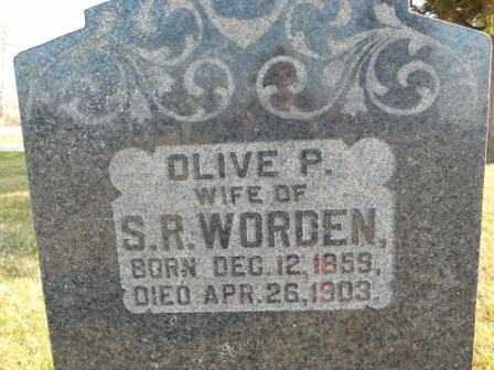 WORDEN, OLIVE P - Morrow County, Ohio | OLIVE P WORDEN - Ohio Gravestone Photos