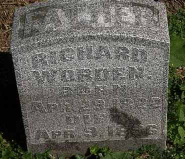 WORDEN, RICHARD - Morrow County, Ohio | RICHARD WORDEN - Ohio Gravestone Photos